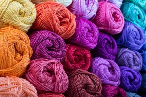a variety of yarn